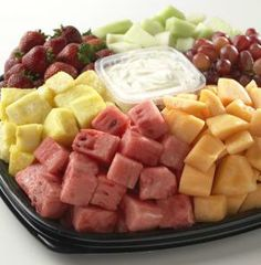 Leave the peeling, seeding and chopping to your Hy-Vee catering department. Order a fruit tray for your graduation party.