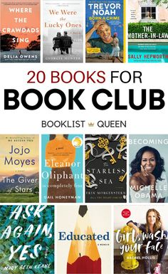 Don't be caught without a suggestion when it's your turn to host book club. Just choose one of these top 20 book club books.