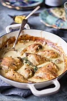 Chicken in Wine and Mustard Sauce