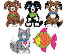 dogs puppy cat kitten fish perler / melty beads