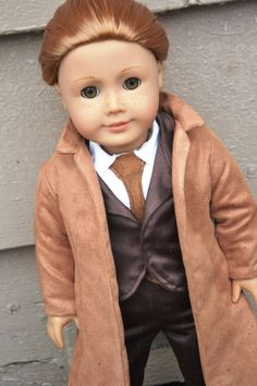 10th Doctor outfit for American Girl Dolls by KateLaurenDesigns, $70.00