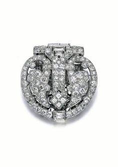 Diamond clip, Cartier, 1930s.