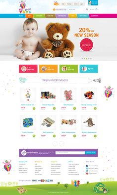 E-commerce website to sell various educational toys in Azerbaijan. Targeted audience kids and their parents.