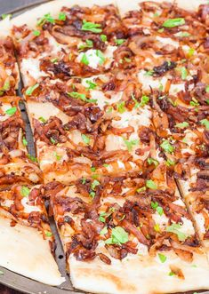 Caramelized Onion Flatbread by Jo Cooks Vegetarian Cooking, Cooking Recipes, Healthy Recipes, Pizza Recipes, Healthy Foods, Yummy Recipes, Vegetarian Recipes, Caramelized Onion Flatbread Recipes, Carmelized Onions