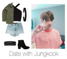 """""""Date with Jungkook"""" by bts-outfit-imagines on Polyvore featuring BCBGMAXAZRIA, T By Alexander Wang, Steve Madden, Vans, Bling Jewelry and Miss Selfridge"""