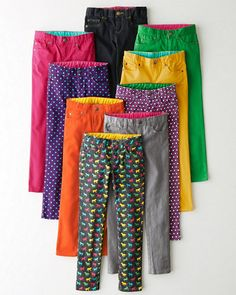 Garnet Hill Signature Skinny Jeans - Girls: so colorful!!