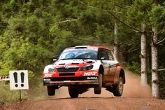 Kopecky do zmagoslavja tudi po zraku Skoda Fabia, Rally, Racing, Vehicles, Car, Running, Automobile, Auto Racing, Autos