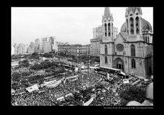 Anos 80 - Movimentos sociais, organizações movimentos juvenis vão às ruas para pedir: Diretas Já