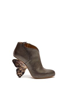 FLUTTERBY HIGH ANKLE BOOTS IN LAMINATE WITH A DOT DESIGN - Shoes Woman - Alberto Guardiani