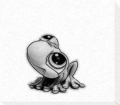 Cute Frog Tattoo Idea
