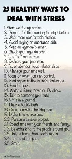 25 Healthy Ways to Deal with Stress - Style of Change by kenya