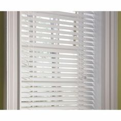 Custom Size Now by Levolor White Faux Wood 2-in Slat Room Darkening Plantation Blinds