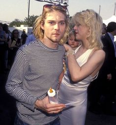 Rock stars: The late Kurt Cobain of Nirvana shown Courtney in 1993 at the MTV Video Music Awards in Los Angeles
