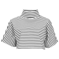 The Fifth Women's Lonely Sea Top - White/Black Oversized White Shirt, Cropped White Shirt, Crop Shirt, Oversized Tops, Crop Top Outfits, Cute Casual Outfits, Formal Outfits, Cosplay, Black And White Crop Tops
