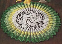 1950's Sunburst Ruffle Doily Vintage Crochet Pattern by annalaia, $3.75