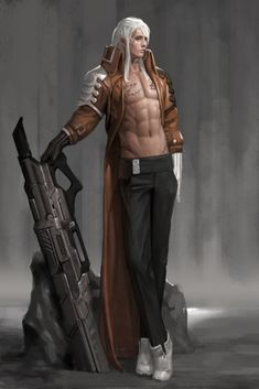 Gunman, Heo Ilhaeng on ArtStation at https://www.artstation.com/artwork/gunman-4fe5215d-f78b-40dd-9164-3c2a0978eeac
