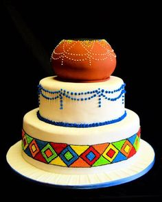 Zulu Traditional Wedding, Traditional Cakes, Africa Cake, African Wedding Cakes, Traditional African Clothing, Wedding Cake Inspiration, Wedding Ideas, Cool Birthday Cakes, Confectionery