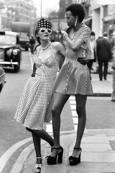 follow me @cushite In Photos: The Best of '70s Fashion  - HarpersBAZAAR.com Those black shoes though
