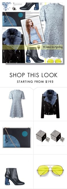 """""""Winter to Spring Layers"""" by prigaut ❤ liked on Polyvore featuring Valentino, La Bête, Whistles, Vita Fede, Acne Studios, Glitter Injections, Wintertospring and springlayers"""