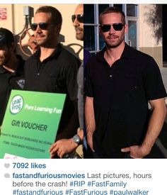 Paul Walkers last photos. Kinda hard to look at these, just reminds me of that day