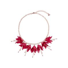 Make a colourful statement with Ted Bakers FAWNA Fuschia necklace. This beautiful necklace with a row of dangling fuschias will allow you to give the most perfect gift of flowers and jewellery combined! Flower Necklace, Beautiful Necklaces, Ted Baker, Dangles, Jewelry Making, Rose Gold, Pendant Necklace, Jewels, Flowers