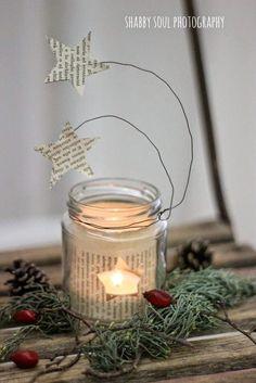 photophore noel DIY Christmas star lantern of paper Star Lanterns, Christmas Lanterns, Lanterns Decor, Ideas Lanterns, Christmas Candle, Diy Christmas Star, All Things Christmas, Christmas Time, Deco Table Noel