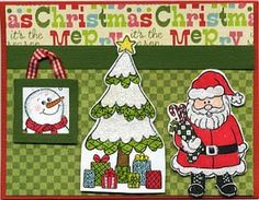 Stamp of the Month October 2011 - Great Impressions Rubber Stamps Diy Cards Stamps, Advent Calendar, October, Santa, Holiday Decor, Christmas, Xmas, Advent Calenders, Navidad