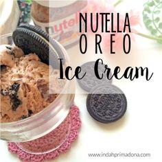resep es krim dengan nutella dan oreo, mudah dan enak