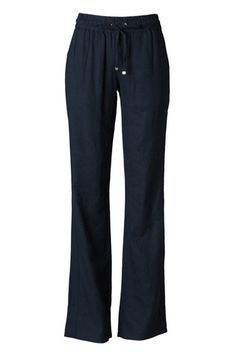 Floating on a Cloud Linen Pants ~ Navy - Avery Lane Boutique