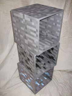 MineShelves - Minecraft World Minecraft Party, Minecraft Room Decor, Minecraft Decorations, Cool Minecraft Houses, Minecraft Crafts, Minecraft Furniture, Minecraft Buildings, Creeper Minecraft, Minecraft Cake
