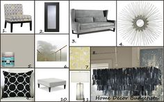 Loving the gray from Home Decor Budgetista