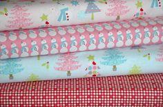 """Christmas Basics Pink"" - Christmas Fabric Bundle by Riley Blake £13.00 @ www.elephantinmyhandbag.com - Fabric, Ribbon  other Scrummy Whatnots x"