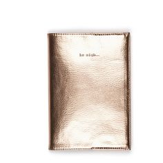 Le Sigh Metallic Journal (€26) ❤ liked on Polyvore featuring home, home decor, stationery and rose gold
