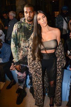 Kim Kardashian at the Off-White show, 29 September 2016