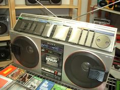 SONY CFS-99 boombox.....................Please save this pin.   .............................. Because for vintage collectibles - Click on the following link!.. http://www.ebay.com/usr/prestige_online