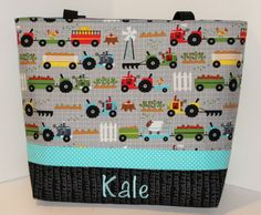 Personalized Diaper Bag .Tote . Weekender/XL by DoodlescootDesigns
