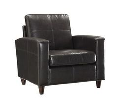 Office Star Espresso Eco Leather Club Chair with Espresso Finish Legs SL2811-EC1