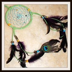 Dream Catcher - Peacock Feathers