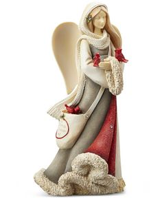 Enesco Heart of Christmas Angel with Cardinals Figurine