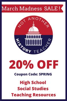 Beat March Madness and get 20% off my whole store! Use the code: SPRING to save on end of the year resources!