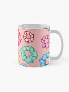 'Colorful 8 Scrunchies Pack ' Mug by AElenaS Transparent Stickers, Glossier Stickers, Sell Your Art, Scrunchies, Packing, Colorful, Ceramics, Tea, Mugs