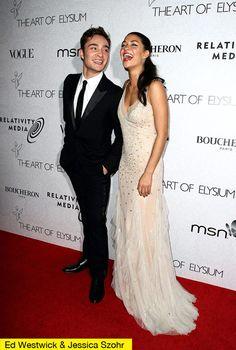 Ed Westwick + Jessica Szohr