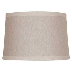 Small Cream Contrast Trimmed Lamp Shade