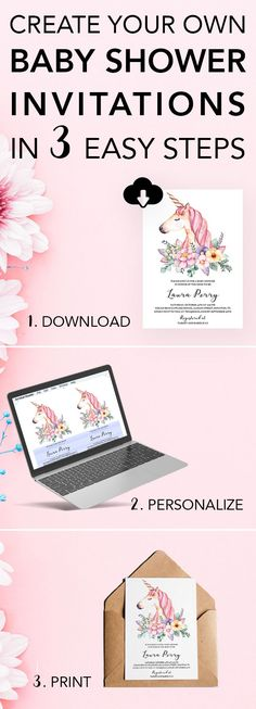 Make planning your baby shower a fun and easy DIY project! Create your own invitations with our unique invitation templates. Try it yourself with our FREE sample template. Simply download, personalize and print in a matter of minutes. Save yourself time a