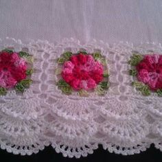 Learn to Crochet – Crochet Wave Fan Edging. Crochet Blanket Edging, Crochet Lace Edging, Crochet Borders, Thread Crochet, Love Crochet, Crochet Doilies, Crochet Flowers, Crochet Stitches, Crochet Baby