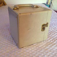 Vintage 60s 70s 45 Record Case Suitcase Trunk Storage. $24.00, via Etsy.