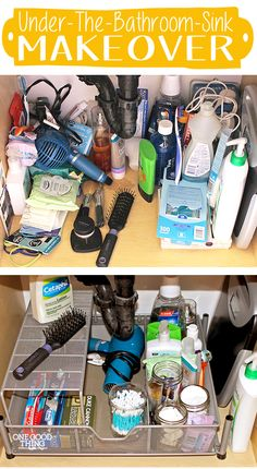 Tackling one of the biggest clutter traps in the house! Under the Sink!