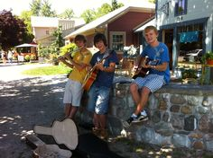 this was taken by a fan and shared on facebook.  It is us minus zack busking in Bayfield aug 2012