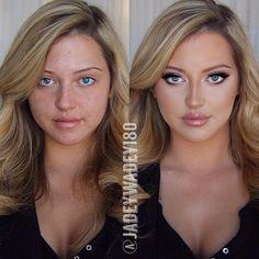 Beautiful before & after transformation @jadeywadey180 @shophudabeauty lashes