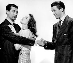 Cary Grant, Katharine Hepburn and Jimmy Stewart in a publicity shot forThe Philadelphia Story (1940)